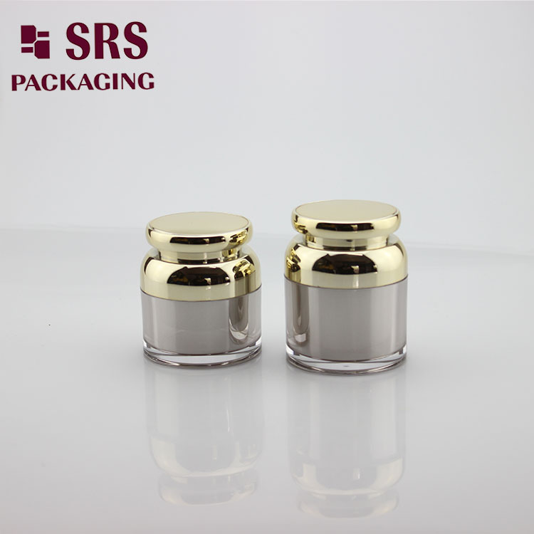 J316 Unique Design Cosmetic Container 30ml 50ml Acrylic Cream Jars gold