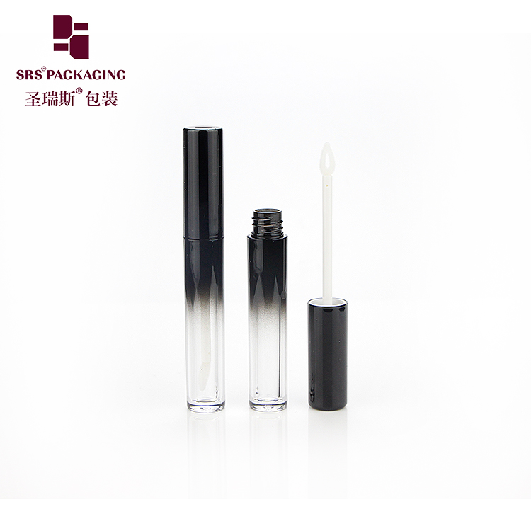Wholesale Black Plastic Lipgloss Tube Empty Cosmetic Liquid Packaging Container 3.5ml