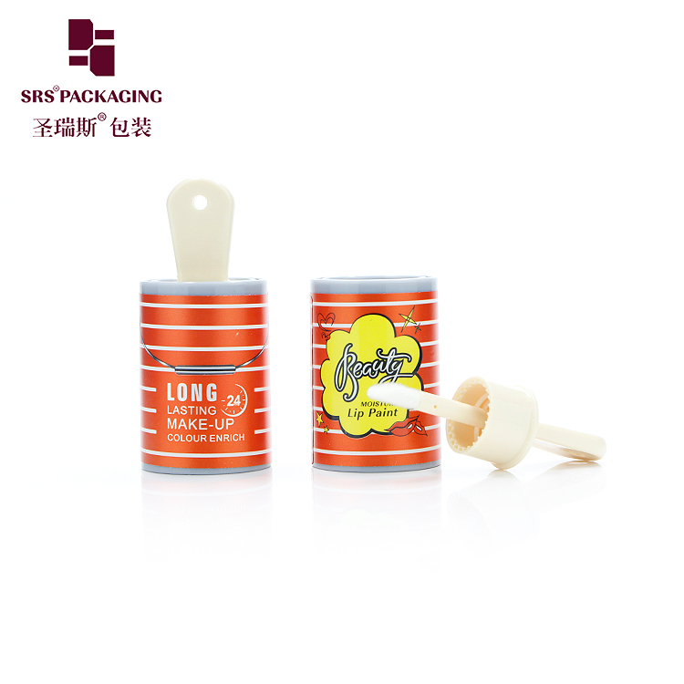 cute design and pattern empty wholesale cosmetic lip gloss plastic tube