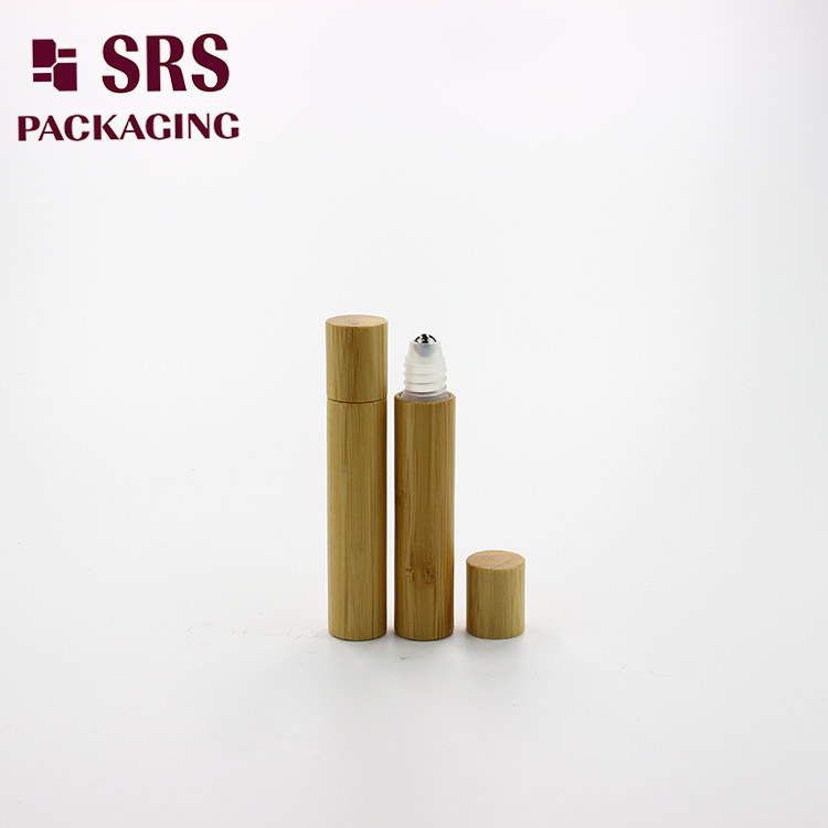 empty 8ml wholesale plastic ball roll on bamboo container for olive oil