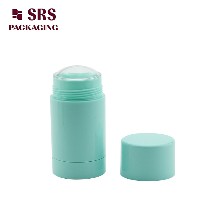 D042 empty Plastic Cosmetic Green Color 75g Deodorant Bottle