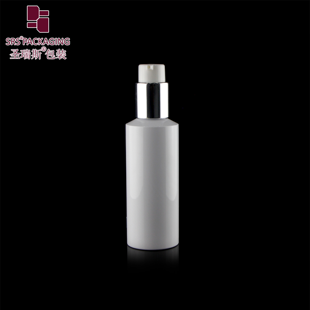 empty injection white custom eco friendly PCR face lotion 120ml pet bottle
