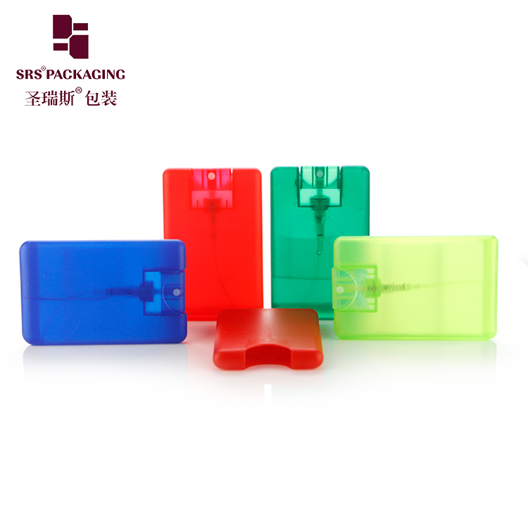empty plastic eco-friendly material 20ml card shape custom spray bottles