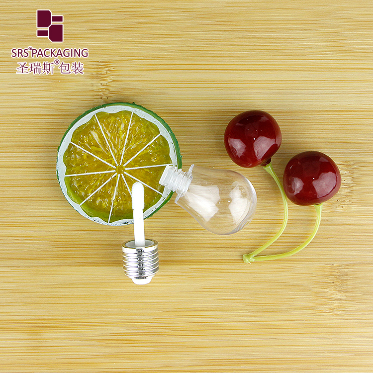 lamp bulb shape transparent cosmetic wholesale high quality lipgloss tube