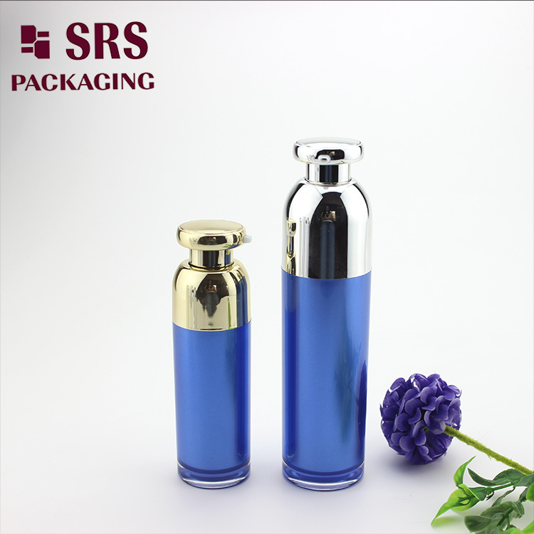A316 new design acrylic round airless pump lotion bottle