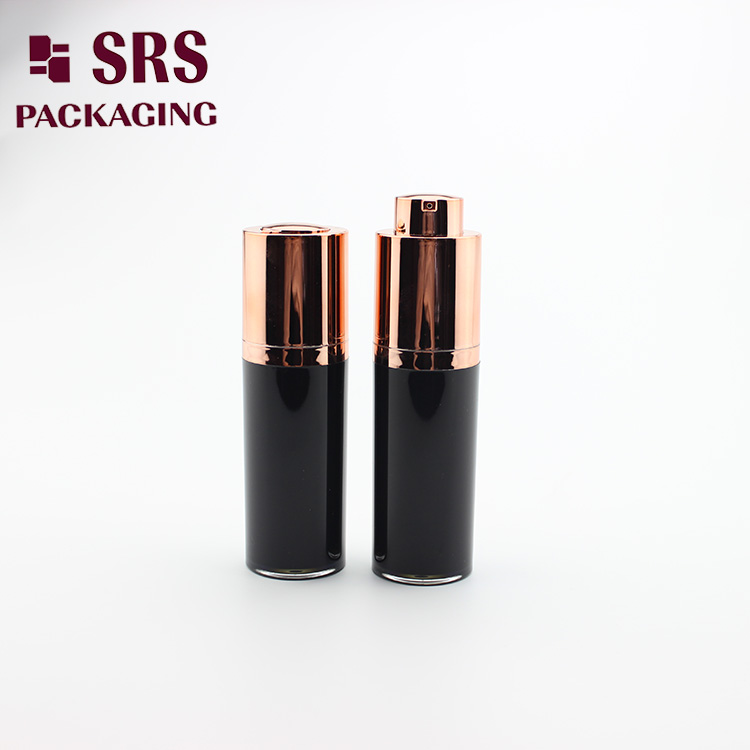 A020 plastic round rotary airless cosmetic bottle 30ml